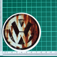 Rusty Vintage Look Volkswagen Sticker Decal