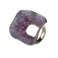 Temptress by night statement cocktail ring