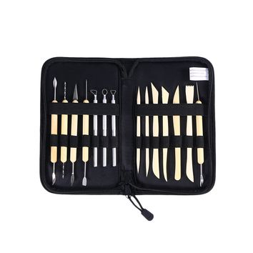 14-in-1 Professional Wooden Metal Pottery Sculpture Clay Tools Kit