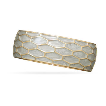 Enamel Honeycomb Design Fashion Bangle Bracelet