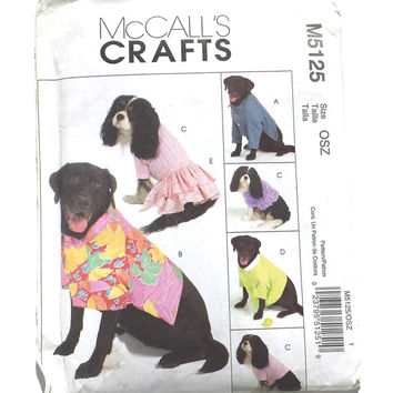 McCall's Pattern, McCall's M5125, Craft Pattern, Dog Costume's, Dog Clothes, Dog Pattern, Uncut Pattern