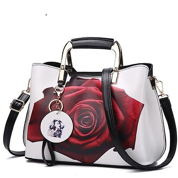 Fashion Style Painted Casual Shoulder Bags Leather