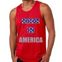 Men's Tank Top Made In America 4th of July Tops T-Shirt