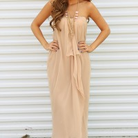 Ark & Co: Dreams Come True Maxi Dress: Light Beige