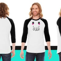 Kawaii Cthulhu Face American Apparel Unisex 3/4 Sleeve T-Shirt