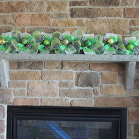 HAND PAINTED Ornaments 3', 6' or 9' Deco Mesh St Patrick's Day Garland Mailbox Swag Mantel mantle st Patricks day garland Centerpiece