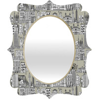 Sharon Turner New York Linen Quatrefoil Mirror