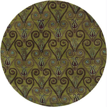 Area Rug - 8' - Colors Include Asparagus Green, Auburn,dark Olive Green,peacock Green,mushroom, Avocado And Espresso