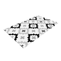 "Pellerina Design ""Black White Moroccan"" Grey Geometric Woven Area Rug"