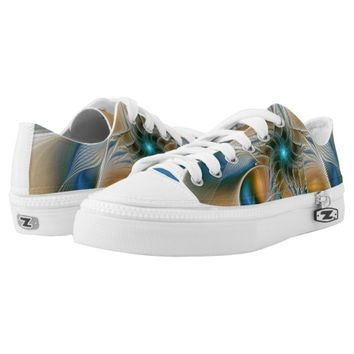 Soaring, Abstract Fantasy Fractal Art With Blue Low-Top Sneakers