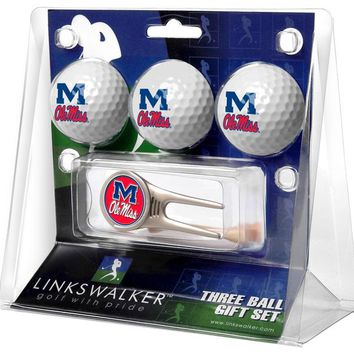 Mississippi Rebels - Ole Miss Cap Tool 3 Ball Gift Pack