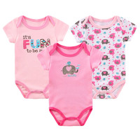 3pcs/lot Newborn Baby Girl Boy Bodysuits Summer Next Clothing Short Sleeve O-Neck Baby Clothes Body Bebes Baby Bodysuit Jumpsuit