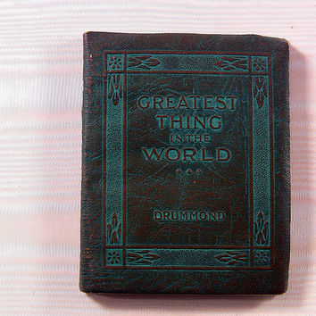 Vintage Miniature Book Greatest Thing in World Drummond