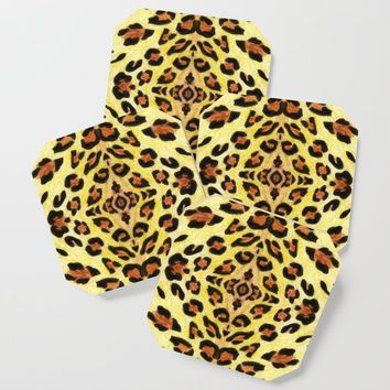 Leopard print Coaster by savousepate