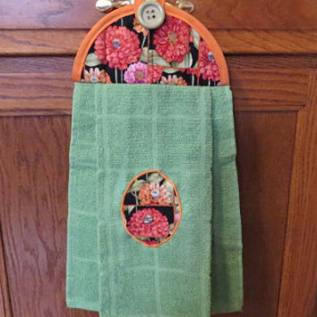 Hanging Kitchen Towel, Floral Dish Towel, Hanging Dish Towel, Hanging Hand Towel, Hanging Tie Towel