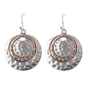 Silver Golden Round Earrings Ethnic Bohemian Dangle Earrings Ethnic Jewelry Female Mental Nepal India Earrings Party HQE337