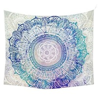 """Jiamingyang Popular Indian Wall Hanging Elephant Flower Tapestry Psychedelic Bohemian Tapestries (Small/59"""" x 51"""", Flower#3)"""