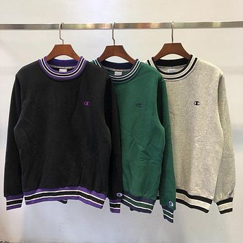 Champion Woman Men Fashion Embroidery Top Sweater Pullover