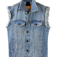Blue Denim Fall Fashion Vest