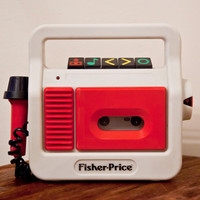 Fisher Price Cassette Player with Microphone by KTsVersion on Etsy