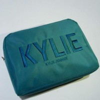 LMFON5L Kylie Christmas Green Embroidery Storage Big Capacity Make-up Bag [429893320740]