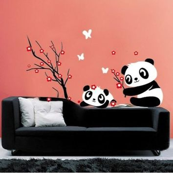 Hot Sale wall stickers home decor DIY Panda Bamboo Pattern Removable Vinyl Decal Home Decor Wall Sticker XT