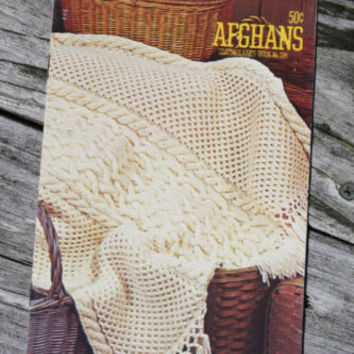 Craft Yarn AFGHANS Coats and Clarks Crochet Booklet Knitting & Crochet Patterns