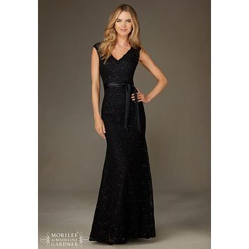 Morilee Bridesmaids 126 Floor Length Lace Dress