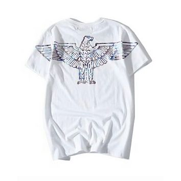 BOY LONDON 2018 Men's and Women's Glass Color Eagle T-Shirt F-Great Me Store White