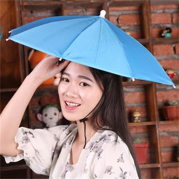 Hat Umbrella Clear men's Small Compact Umbrella Women Rain Umbrella Fishing Umbrella On Head Outdoor Camping For Children/Adult