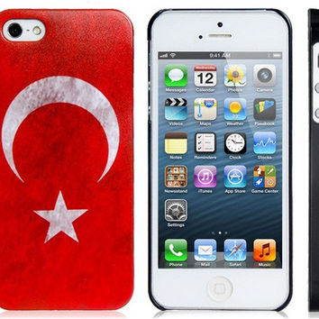 Turkey Flag Plastic Case for iPhone 5S/S