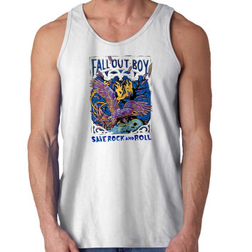 fall out boy save rock and roll For Mens Tank Top Fast Shipping For USA special christmas ***