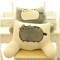 Pusheen Cat big pillow cushion biscuits cat plush toy doll Of big face cat tail cat doll waist by office waist pillow
