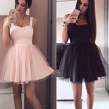 Women Formal Short Lace Tulle Dress Prom Evening Party Cocktail Bridesmaid Gown