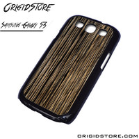 Wood Texture Black Case For Samsung Galaxy S3 Case