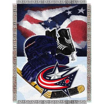 Columbus Blue Jackets NHL Woven Tapestry Throw (Home Ice Advantage) (48x60)