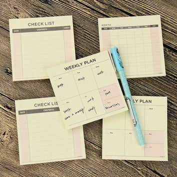 1 Pcs Kawaii Weekly Monthly Work Planner Book Diary Agenda Filofax For Children Learning Office Gifts