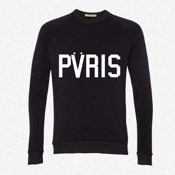 PARIS 4 fleece crewneck sweatshirt