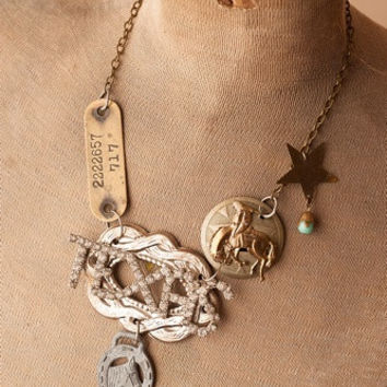 Vintage Rodeo Texas Necklace