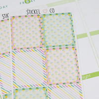 6 Pineapple Themed Pattern Boxes - Perfect for Erin Condren Life Planner