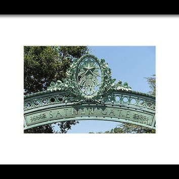 University Of California Berkeley Historic Sather Gate Dsc4073 Framed Print