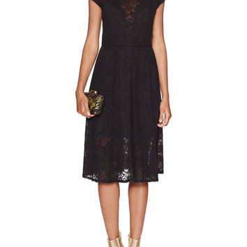 Black Halo Women's Polaris Lace Flared Dress - Black -
