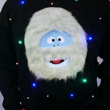 Light Up Ugly Christmas Sweater - Bumble the Abominable Snow Monster