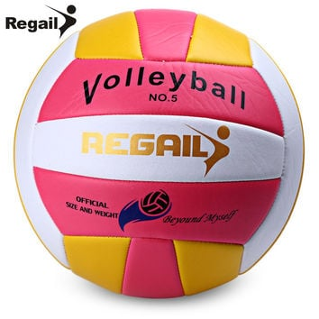 Regail Official Size 5 Weight Volleyball Outdoor Indoor Training Competition Handball Indoor Outdoor Volley Ball 2 Colors