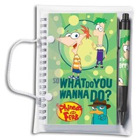 Phineas & Ferb Spiral Notebook & Pen Set (1051A)