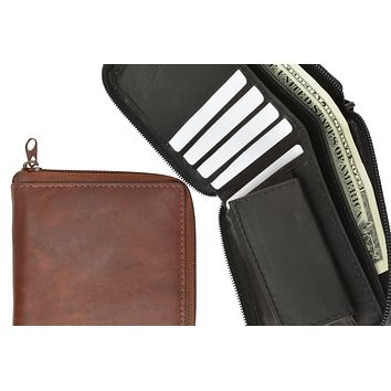 Secure Zip Around Men Leather Wallet