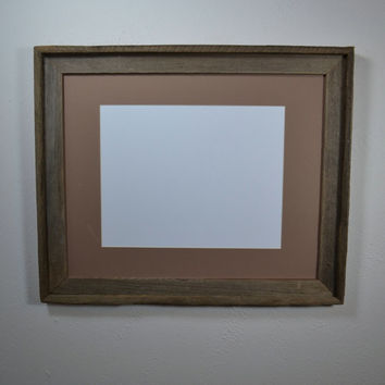 Reclaimed wood picture frame 16x20 complete with mat