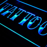 Tattoo Shop Bar Pub Art Piercing LED Neon Light Sign On/Off Switch 7 Colors
