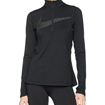 CREY3DS Nike Dry Women's Dri-Fit Half Zip Running Jacket Black 844623 010