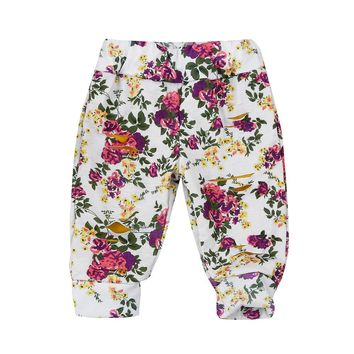 Toddler Baby Boys Girls Two-Double Hole Flowers Print Girls Pants Leggings children clothes drop ship